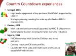 country countdown experiences