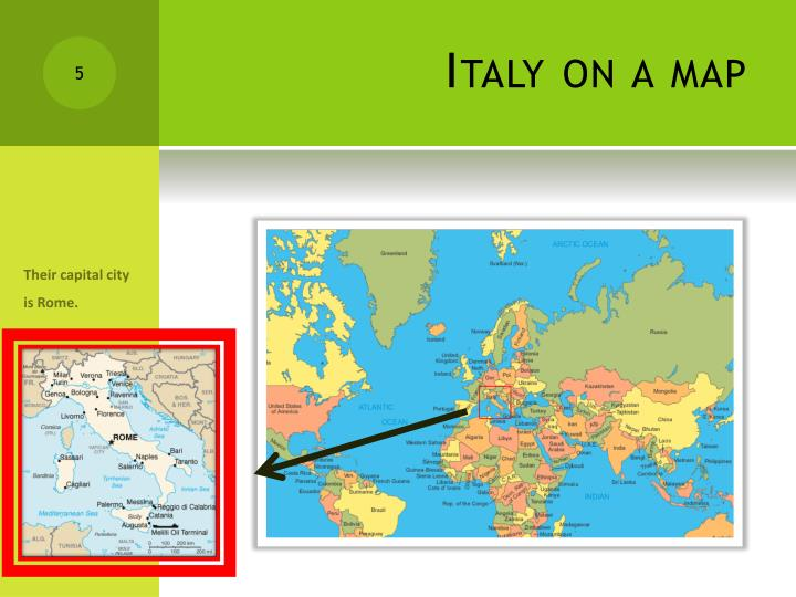 Italy on a map