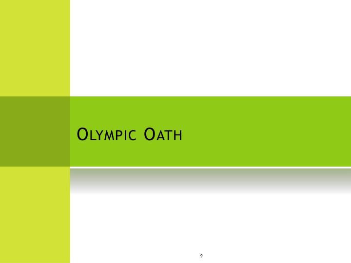 Olympic Oath