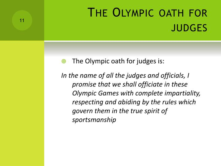 The Olympic oath