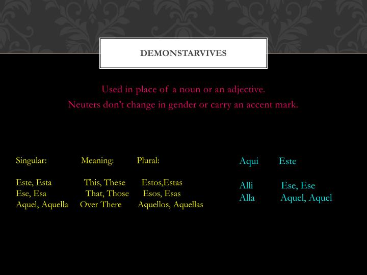 Demonstarvives