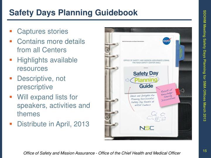 Safety Days Planning Guidebook