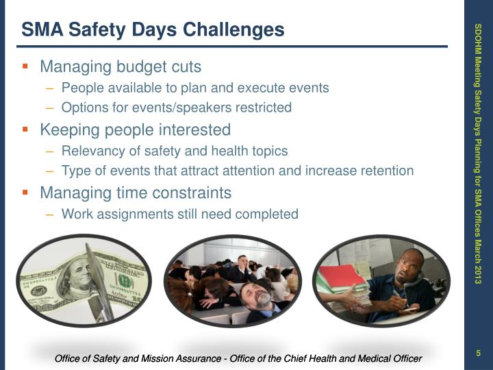 SMA Safety Days Challenges