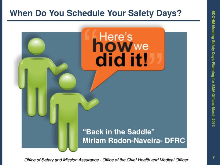 When Do You Schedule Your Safety Days?