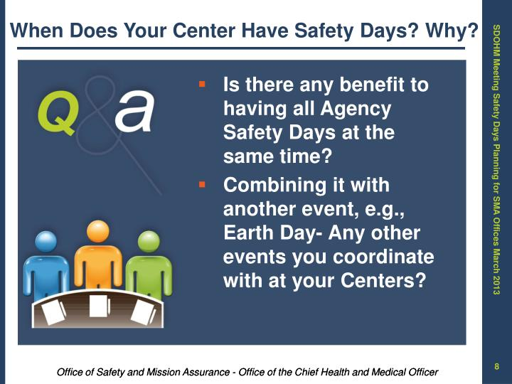 When Does Your Center Have Safety Days? Why?