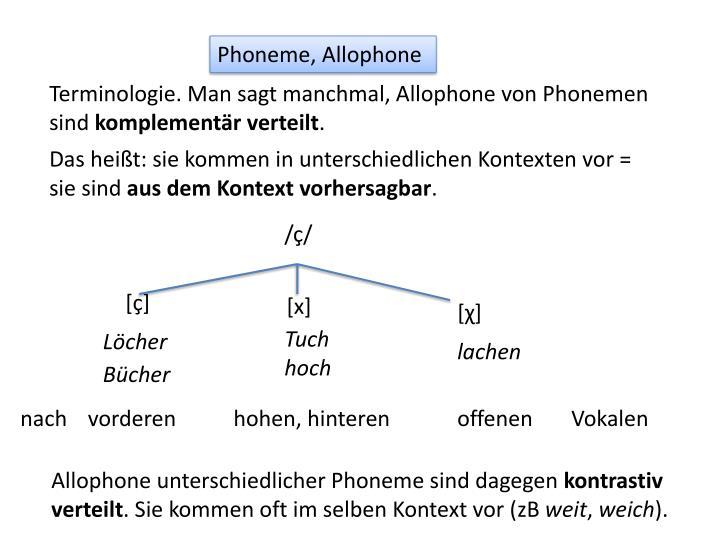 Phoneme, Allophone