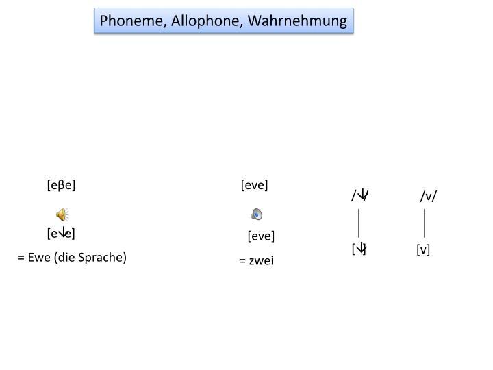 Phoneme, Allophone, Wahrnehmung