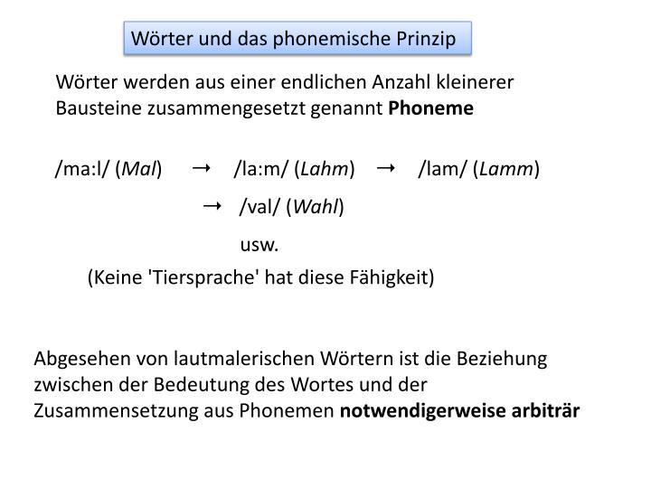 Wörter und das phonemische Prinzip