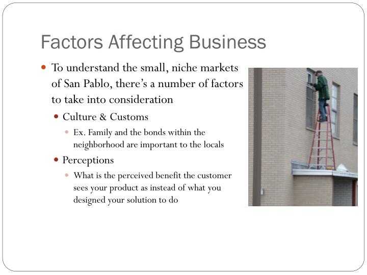 Factors Affecting Business