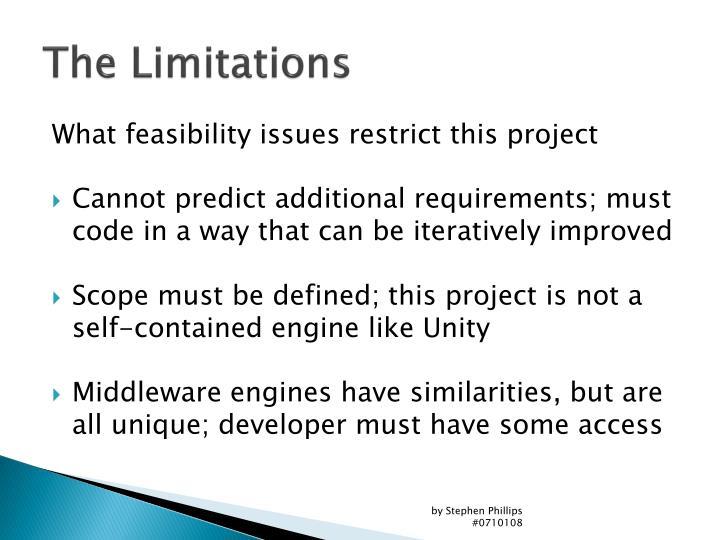 The Limitations