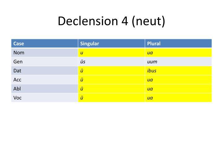 Declension 4 (