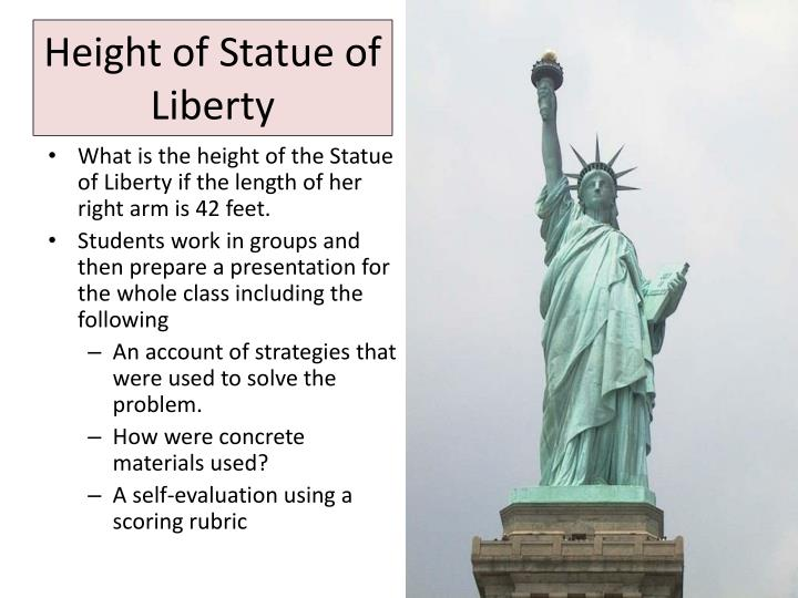 Height of Statue of Liberty
