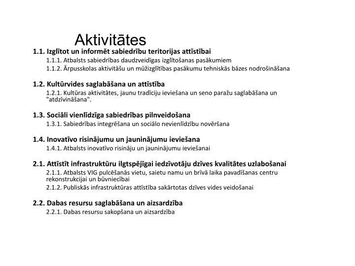 Aktivitātes