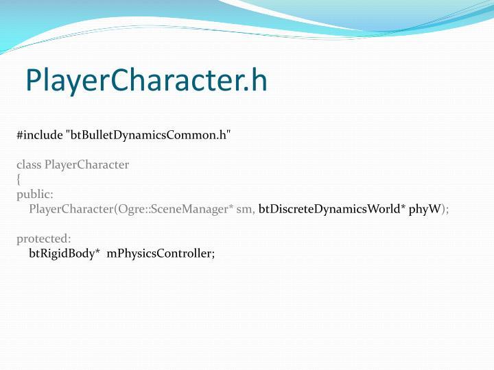 PlayerCharacter.h