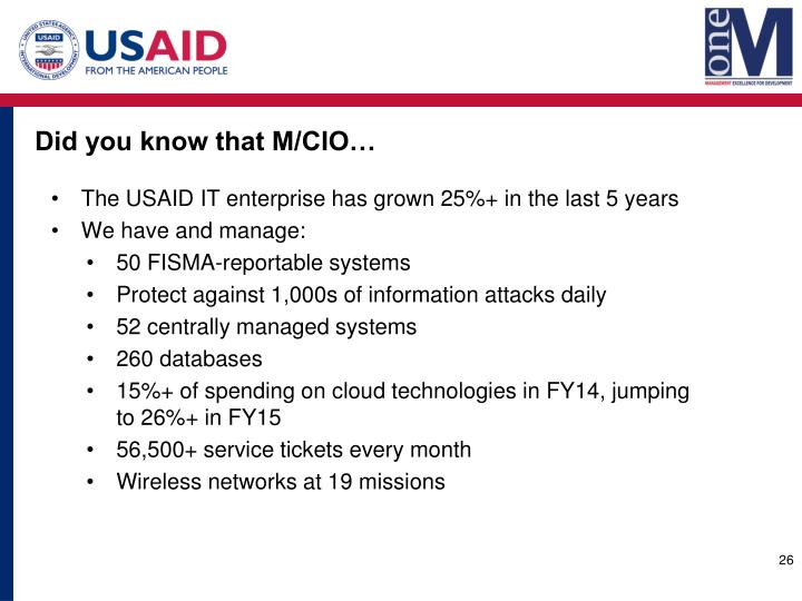 Did you know that M/CIO…
