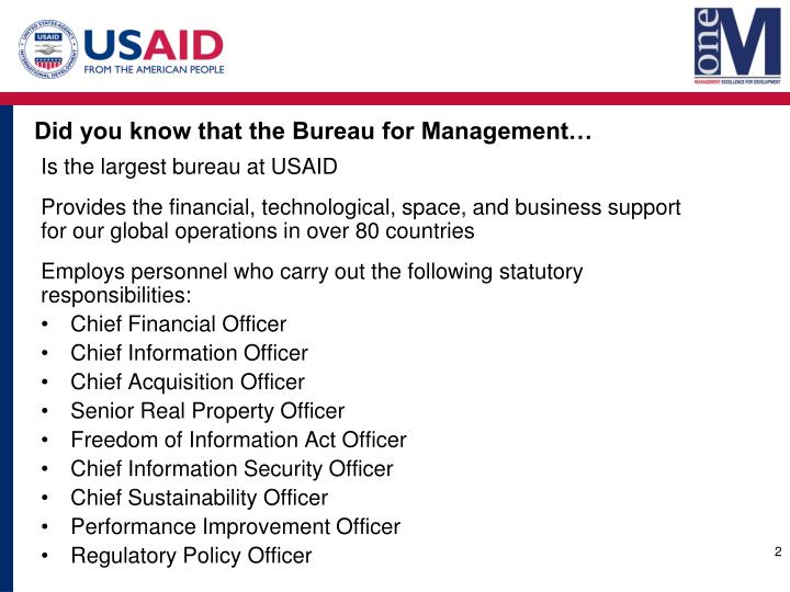Did you know that the Bureau for Management…