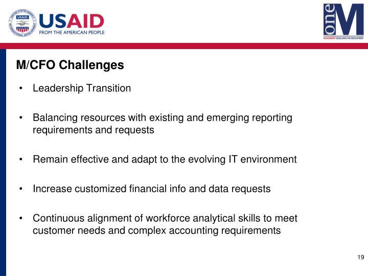 M/CFO Challenges