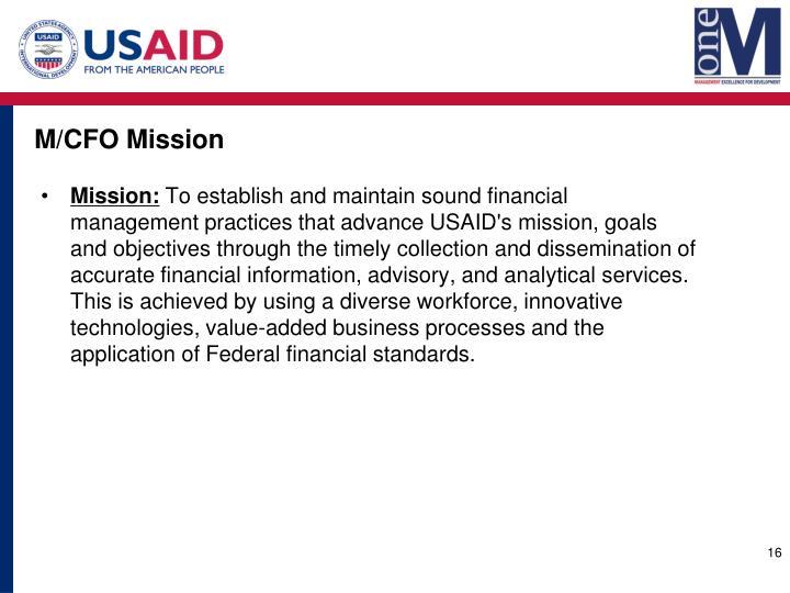 M/CFO Mission