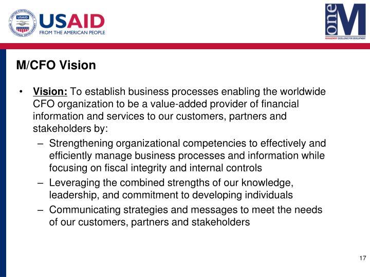 M/CFO Vision