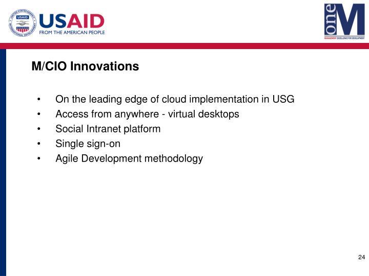 M/CIO Innovations