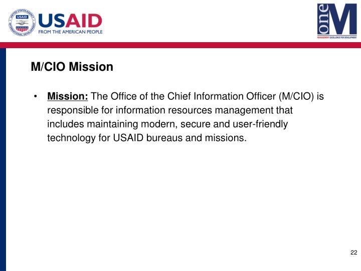 M/CIO Mission