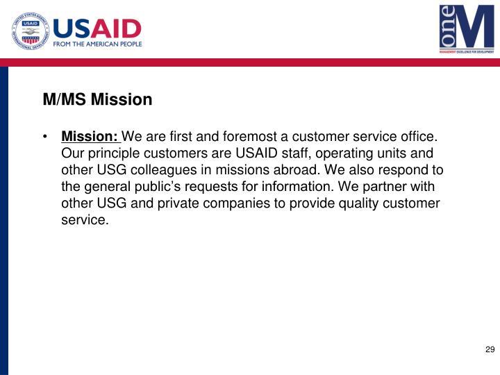 M/MS Mission