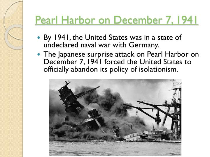 Pearl Harbor on December 7, 1941