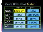 second declension neuter
