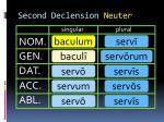 second declension neuter1