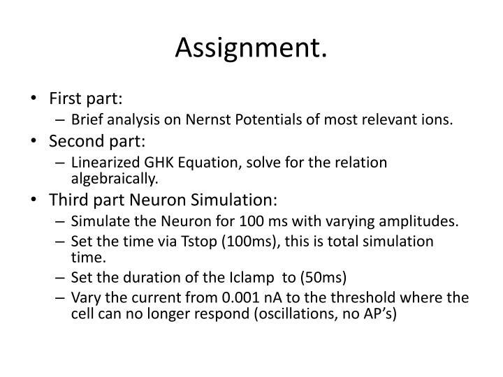 Assignment.