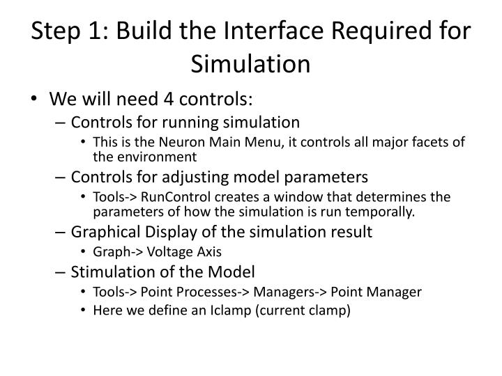 Step 1: Build the Interface Required for Simulation