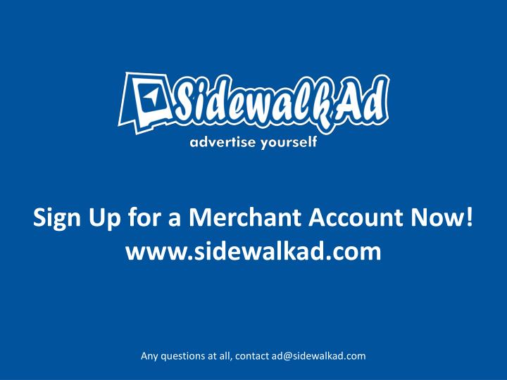 Sign Up for a Merchant Account Now!