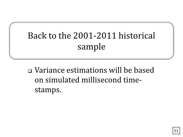 Back to the 2001-2011 historical sample
