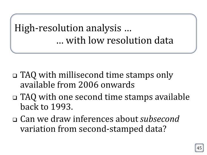 High-resolution analysis …