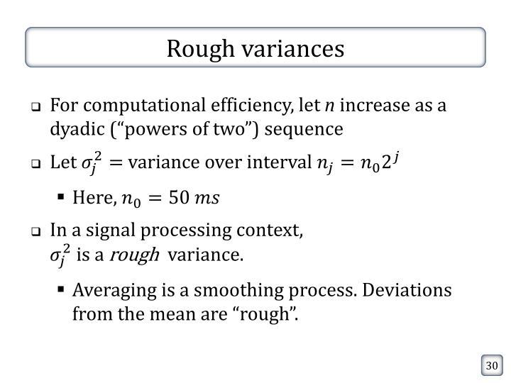 Rough variances