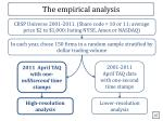 the empirical analysis