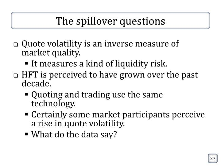 The spillover questions