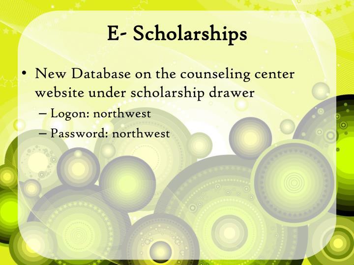 E- Scholarships