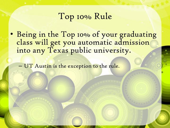 Top 10% Rule