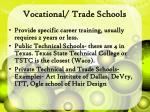 vocational trade schools