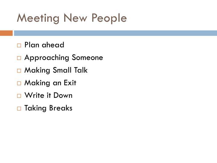 Meeting New People