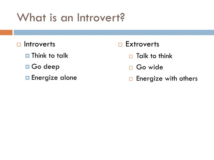 What is an Introvert?
