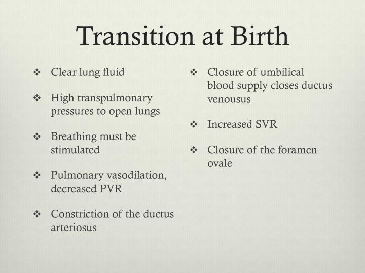 Transition at Birth