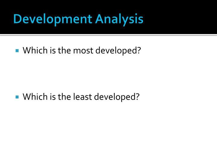 Development Analysis