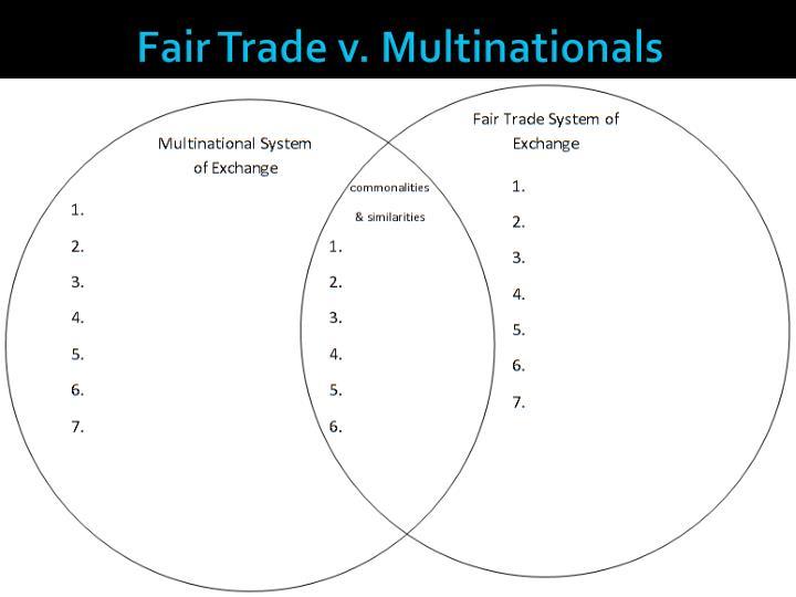 Fair Trade v. Multinationals