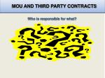 mou and third party contracts