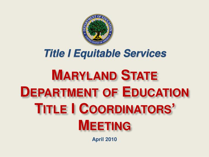 Title I Equitable Services