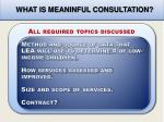 what is meaninful consultation1