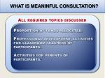 what is meaninful consultation2