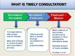 what is timely consultation
